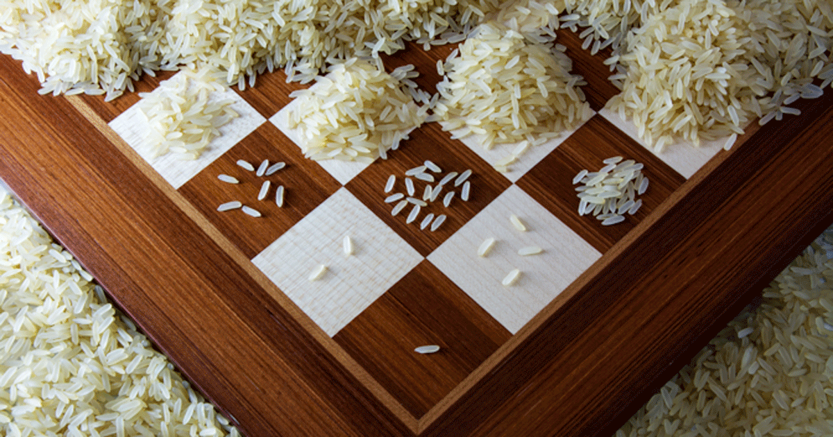 Chessboards And Rice: A Lesson For Exponential Growth